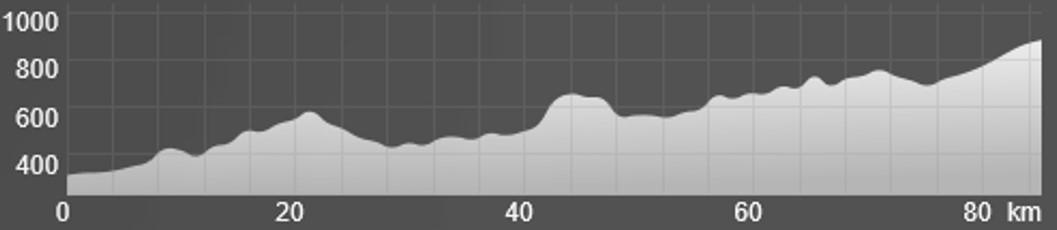 Wykres przewyższenia: 1 110 m