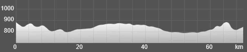 Wykres przewyższenia: 300 m