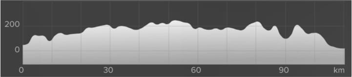 Wykres przewyższenia: 990 m