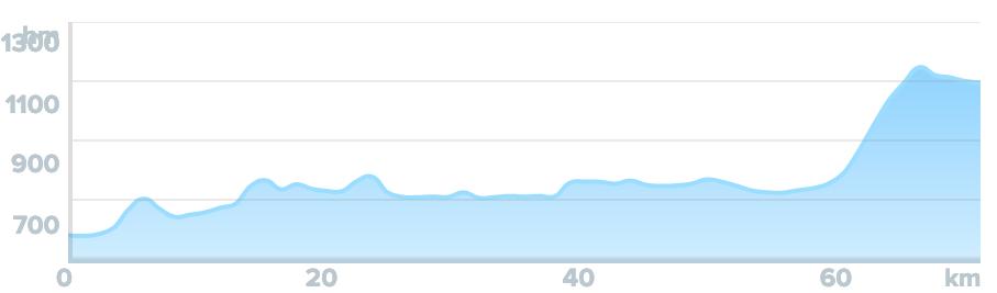 Wykres przewyższenia: 960 m