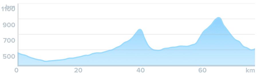 Wykres przewyższenia: 880 m