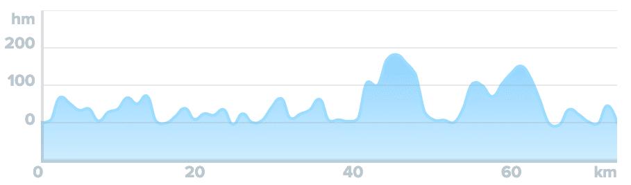 Wykres przewyższenia: 980 m